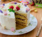 Layer cake citron fraise