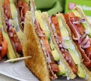 Club sandwich au Saint Agur