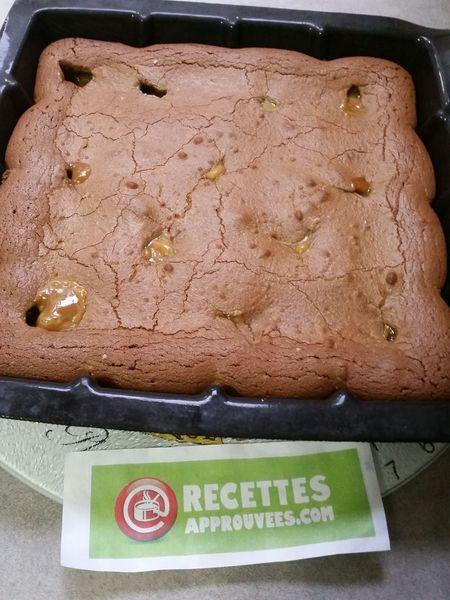 Brownie Au Caramel Beurre Sal 233 Au Thermomix