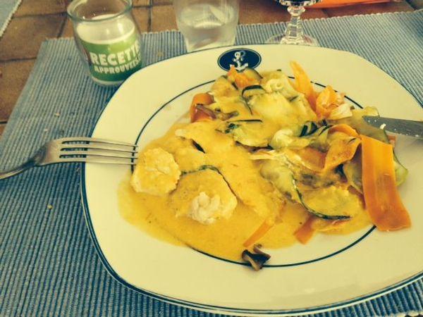 Poulet Curry Et Tagliatelles De Legumes Au Thermomix