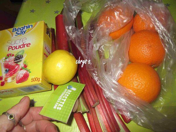 Confiture Rhubarbe Orange Thermomix Melanie B