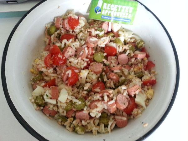 The salade de riz anne marie p - Cuisiner des saucisses de strasbourg ...