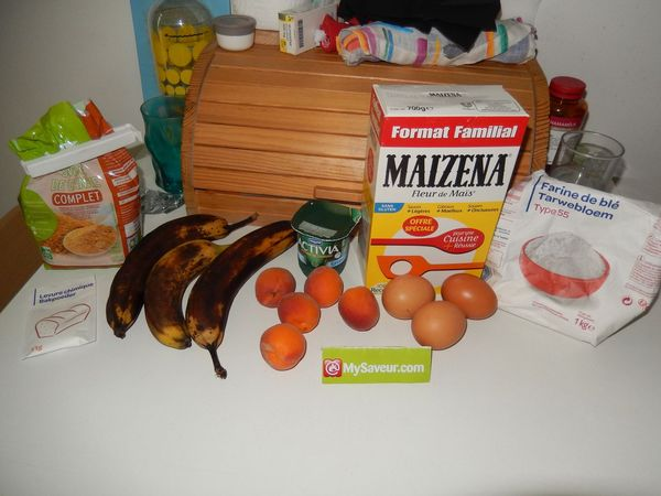 Gateau abricot banane