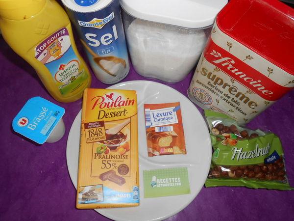Gateau yaourt noisette chocolat