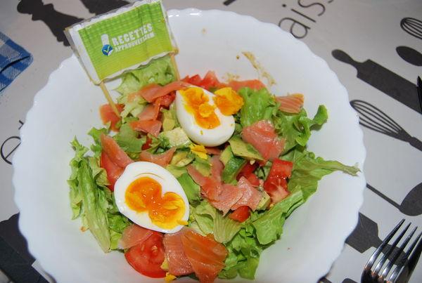 Salade avocat saumon magali g for Entree fraiche et rapide