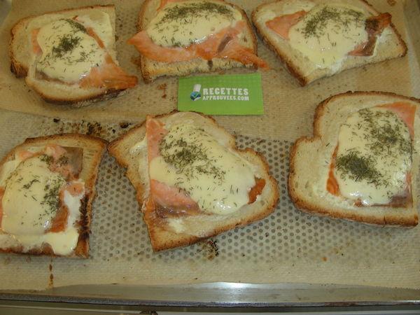 Bruschetta saumon fumé aneth