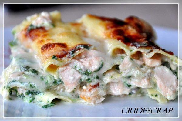 Lasagne Au Saumon Et Aux Epinards Christine L