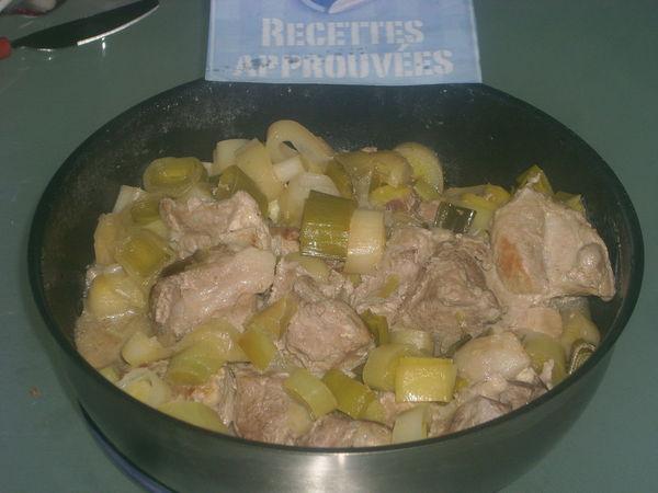 Saut de porc aux poireaux armelle l - Cuisiner un saute de porc ...