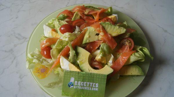 Salade avocat saumon magali g for Entree fraicheur rapide