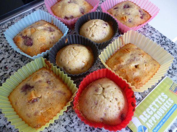 Mini Muffins Framboises Et Chocolat Blanc Valerie M