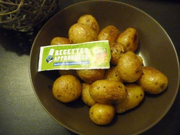 Pommes de terre rattes cuites dans leur beurre aux herbes - Conservation pommes de terre cuites ...