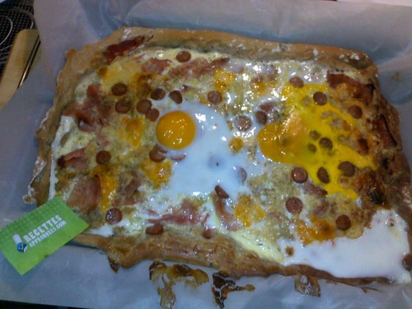 pizza bretonne sarrasin jambon fromage thermomix