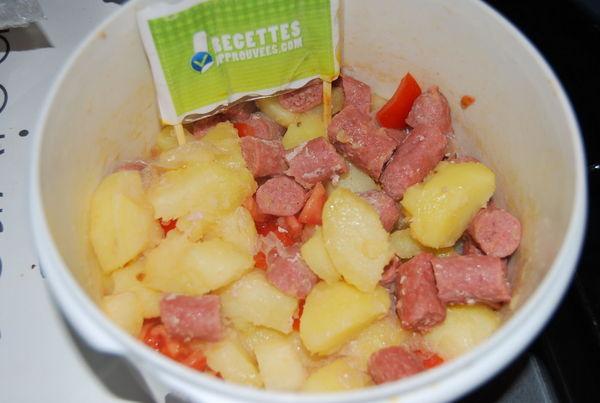 Repas express pdterre petites saucisses for Idee repas sympa