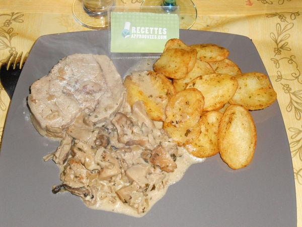 Roti De Veau A La Creme Et Aux Champignons
