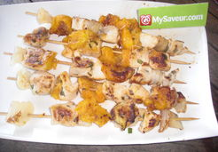 Brochettes poulet abricots - Lucie O.