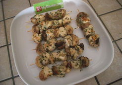 Brochettes poulet champignons - Lucie O.
