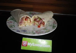 Wraps tomate gruyére bacon - Christiane C.