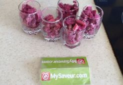 Verrine avocat betteraves rouges - Veronique C.