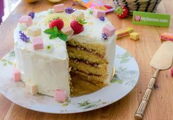 Layer cake citron fraise -