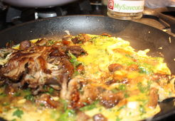 Omelette aux pleurotes - Marina S.