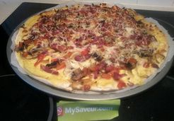 Pizza curry poivron bacon - Bernadette L.